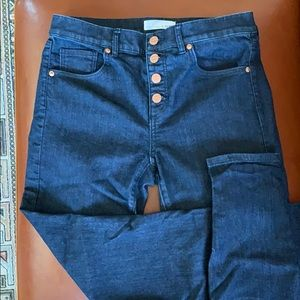 Denim - Loft button fly jeans size 6